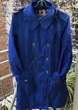 Burberry London Size 10 Royal Blue Trench Coat