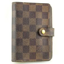 Auth LOUIS VUITTON AGENDA PM Notebook Day Planner Cover Damier Ebene R20700