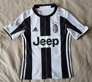 "Juventus Home Football Shirt 2016 2017 JEEP Adidas Boys XS 24"" 7-8 Y"