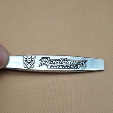 Metal Transformers Decepticons Silver Car Emblem 3D Side Fender Badge Sticker