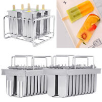 6/20pcs Stainless Steel Molds Ice Pop Lolly Popsicle Ice Cream Stick Holder Mold