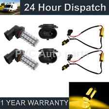 2X HB3 9005 YELLOW 60 LED FRONT FOG SPOT LAMP LIGHT BULBS CAR KIT XENON FF500801