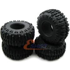 4pcs RC 1/10 Crawler 2.2 Tires 130mm Fit RC 4wd Axial 2.2in Rock Crawler Rims