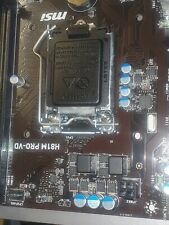 MSI H81M PRO-VD LGA1150 4th generation Motherboard vga dvi i/o plate