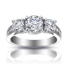 2.25 ct Ladies Three Stone Round Cut Diamond Engagement Ring