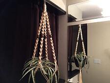 Macrame Plant Hanger FLESH 4 WALNUT BEADS
