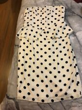Bardot Black & White Spot Suri Peplum Dress Size 14