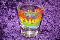 Aloha Hawaii Clear Glass Shot Glass