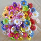 "Decoration1.5"" 50,100pcs Multicolor Silk Gerbera Daisy Flower Head Wedding Party"