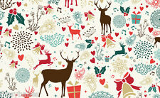 20 x A4 Sheets Reindeers, Bells & Hearts 300gsm Card NEW