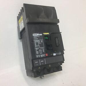 Square D I-Line HGA36020 20A PowerPact Circuit Breaker HG 060 3P 480/600V 20 Amp