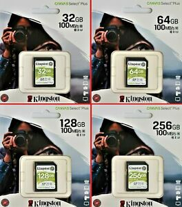 Kingston 32GB 64GB 128GB 256GB SDHC SDXC UHS-1 U1 U3 class 10 SD Karte 100MB/S