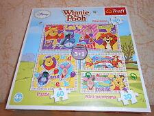 boîte de 4 puzzles disney WINNIE L'OURSON 2x 30 + 60 + 160 pièces - sous blister