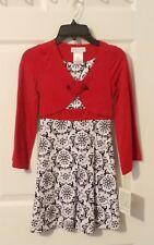 BONNIE JEAN BIG GIRL RED DRESS SIZE 7