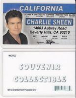Actor - Mr. Charlie Sheen two and a half men plastic ID card Drivers License