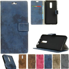Retro Wallet Card Leather Flip Case Cover Stand For Nokia Moto ASUS Sony Phone