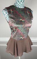 Whitney Eve Womens Preplum Top Shirt Sleeveless NY Fashion Week Size 0 Ruffle