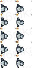 10x Universal LED Truck Lorry Trailer End Outline Marker Light Lamp E4 Mark 24V