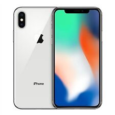 Teléfonos móviles libres iOS Apple iPhone X de plata