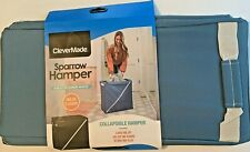 CleverMade Hamper Collapsible Slim & Sturday Zip Up Laundry Basket NEW