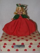Vintage #93 Season/Winter Bisque Nancy Ann Storybook Doll Red Polka Dot Box