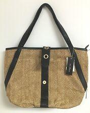 ORIGINAL OLIVIA AND JOY MAYA DOUBLE HANDLE TOTE STRAW handbag purse C42