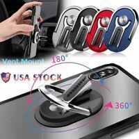 Multipurpose Phone Bracket Rotating Finger Ring Holder Car Vent Clip Phone Mount