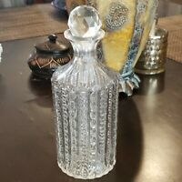 """8""""--Vintage Lead Crystal Cut Glass Liquor Decanter with Stopper"""