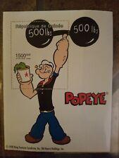Guinea - Popeye The Sailorman - Souvenir Sheet - Mnh