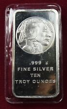 "10 TROY OUNCES .999 SILVER BAR ""BUFFALO"""