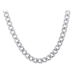 Men's Stainless Steel 7mm wide Curb Link Chain Necklace #ANNK016
