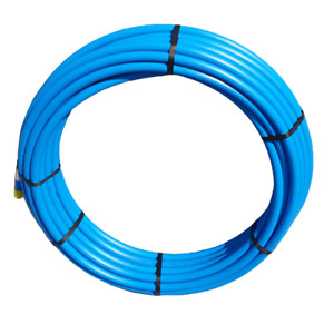PipeLife Blue MDPE Plastic Cold Water Mains Pipe 25mm x 100meter coil