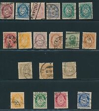 1877 - 1929 Norway (19) EARLY ISSUES; ALL USED; CV $220
