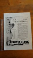 PUBLICITE ANCIENNE - PUB ADVERT CLIPPING 1930 - Ovomaltine - dos delage