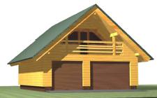 Log Garage Kit Lhbg 117 Eco Wood Prefab Diy Building Cabin Home Modular