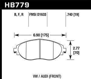 Hawk Performance HB779B.740 HPS 5.0 Disc Brake Pad
