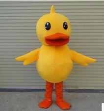 Halloween Big Yellow Duck Mascot Costume Cute Cartoon Animal Adult Fancy dress