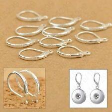 Silver Earrings 925 Sterling Hooks Coil Ear Wire Leverback Earwire Clasps 100pcs