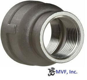 """1-1/2"""" X 3/4"""" 150 Female NPT Bell Reducer Coupling 304 Stainless <SS19080541304"""