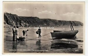 CORNWALL, GORRAN HAVEN, LANDING CRABS AND LOBSTERS, RP