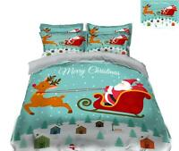 3D Sleigh Deer O491 Christmas Quilt Duvet Cover Xmas Bed Pillowcases Fay