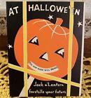 UNused Vintage Halloween Mechanical Fortune Greeting Card Norcross 1940s 1950s