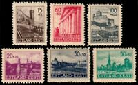 ✔️ GERMAN OCCUPATION ESTONIA 1941 - RECONSTRUCTION - SC. NB1/NB6 ** MNH 12$ [E1]