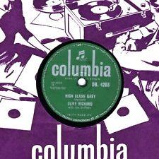 ROCKING CLIFF RICHARD & THE DRIFTERS 78  HIGH CLASS BABY  UK COLUMBIA DB 4203 E-