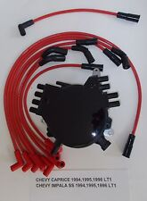 CHEVY CAPRICE IMPALA 94-96 LT1 5.7L OPTISPARK Distributor & RED Spark Plug Wires