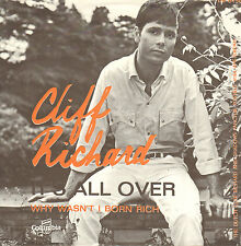 "CLIFF RICHARD - It's All Over (VERY RARE 1967 PROMO VINYL SINGLE 7"" DUTCH PS)"