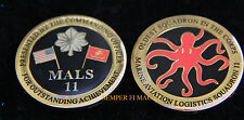 MALS-11 DEVIL FISH CHALLENGE COIN US Marines Z Aviation Logistics Squadron MCAS