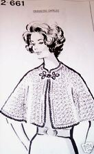 2-661 Vintage Mail Order CAPELET Pattern to Crochet (Reproduction)