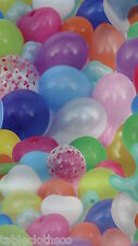 """2.6m/102"""" wipe clean vinyl pvc wipeable balloons party  oilcloth TABLECLOTH CO"""