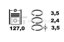 r1004600 JUEGO DE ANILLOS DE PISTÓN SCANIA 4DC, DSC 550255 , 1304642